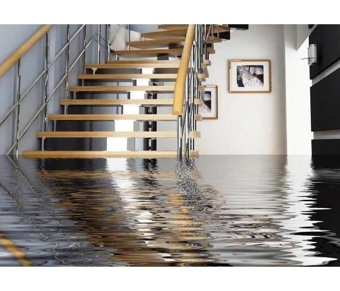 Storm Damage Flooded Basement in Hinsdale